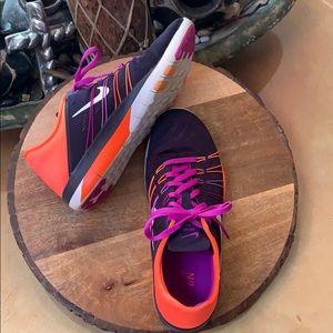 Nike Free TR 6 Purple & Neon Corral Sneakers